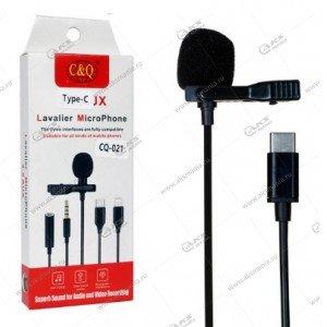 Микрофон петличный CQ021 Type-C