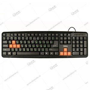 Клавиатура KS-020U Dialog Standart - USB черный с оранжевым