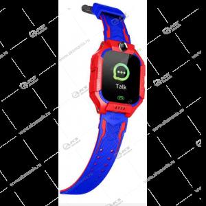 Часы детские Z6 GPS, Будильник, Шагомер. Сенсорный красно-синие