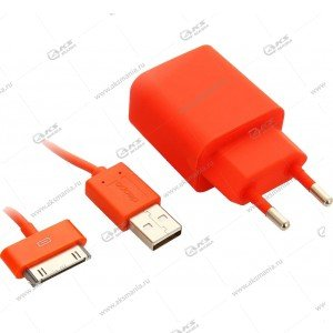 CЗУ Deppa 2USB 2.1A для iPhone 4S/iPad оранжевый