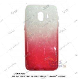 Силикон Samsung J260/J2 Core перламут 2в1 красный