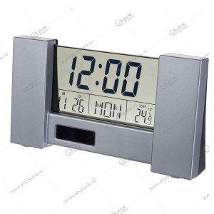 "Часы-будильник Perfeo ""City"" (PF-S2056) время, температура, дата серебрянный"