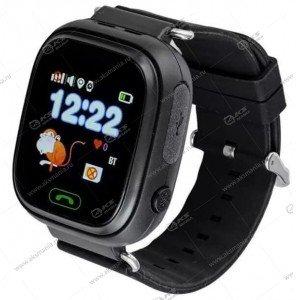 Часы детские Q90 GPS, Будильник, Шагомер. Сенсорный черный