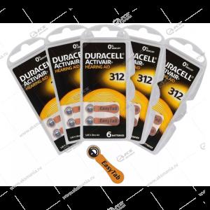 Элемент питания Duracell ActiveAir Nugget Box DA312/ZA312/6BL (для слуховых аппаратов)