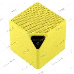 Колонка портативная  MINI-X3 BT FM TF USB  желтый