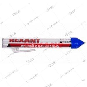 Припой с канифолью Rexant 20г, (олово 60:, свинец 40%), колба-карандаш