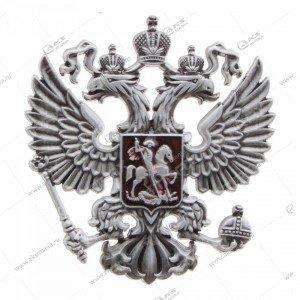 """Наклейка """"Герб"""" металл (на чехол, сумку, ежедневник и др), серебро"""