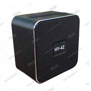 Колонка портативная  HY-42 BT FM TF USB черный