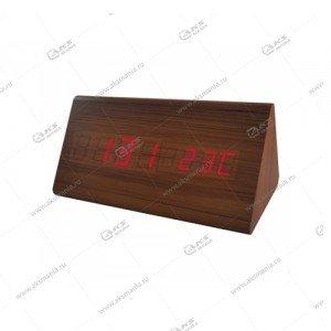 Часы Perfeo Pyramid PF-S710T коричневый/ красный