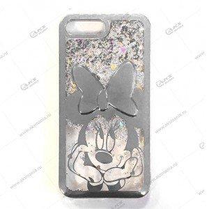 Силикон Аквариум для iPhone X/ XS Minnie Mouse серебро