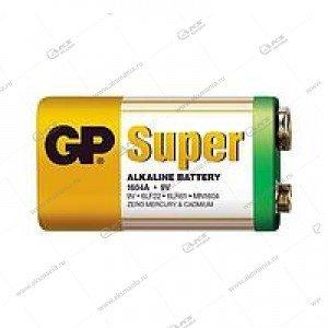 Элемент питания GP 6LR61/1SH (крона) Super Alkaline 1604A