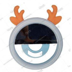 Вспышка-селфи для телефона с рожками оранжевый
