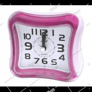 Часы 3019 будильник розовый
