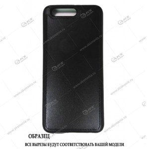 Силикон Huawei 6S кожа с логотипом черный