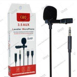 Микрофон петличный CQ021 Jack 3.5