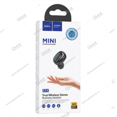 Bluetooth гарнитура Hoco E54 Mia mini wireless headset черный