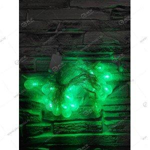 """Гирлянда """"Шарики с пузырьками"""" силиконовый провод 40LED зеленый"""