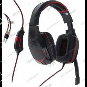 Гарнитура полноразмерная игровая Defender Excidium, кабель 2,2м, регулятор громкости, красн/черн.