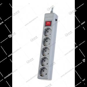 Сетевой фильтр Perfeo POWERX 3м, 5 розеток серый