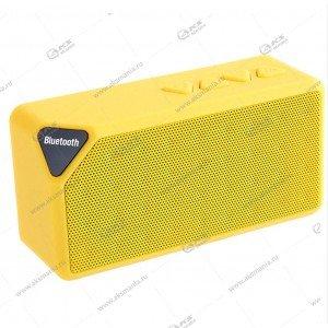 Колонка портативная  X3 BT FM TF USB  желтый