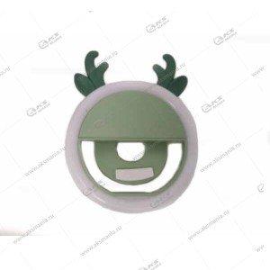 Вспышка-селфи для телефона с рожками зеленый