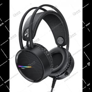 Наушники Hoco W100 Touring с микрофоном черный