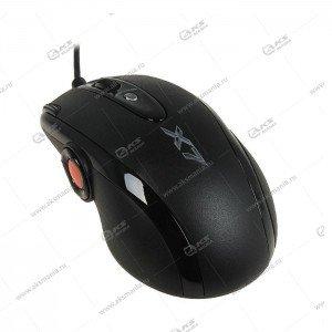 Мышь проводная игровая A4Tech XL-755BK лазерная, черный
