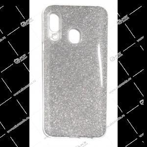 Силикон блестки Samsung A01 Core 3в1 серебро