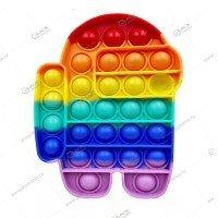 Игрушка Антистресс Among Us резиновые пузырьки