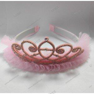 """Обруч на голову """"Корона"""" розовая"""