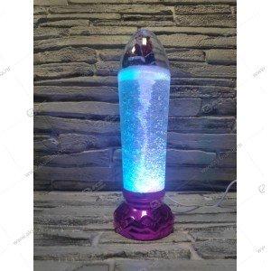 Светодиодная лампа Свеча со снеговиком розовый
