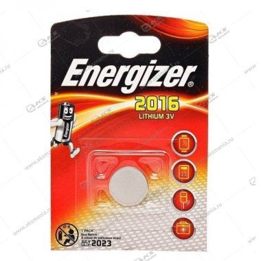 Элемент питания Energizer CR2016/1BL