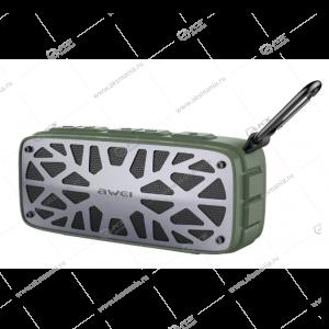 Колонка портативная Awei Y330 BT TF Green-gray