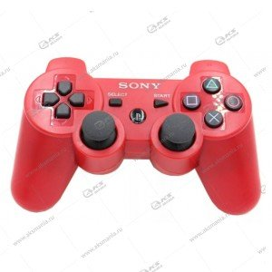 Gamepad PS3 Dualshock 3 wireless красный