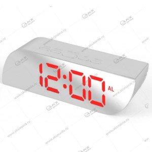 Часы настольные 018 бело/красный