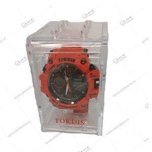 Наручные часы KASIO водонепроницаемые в пластике красные