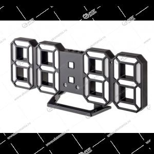 Часы Perfeo Luminous 2 PF-6111 черный корпус / белая подсветка