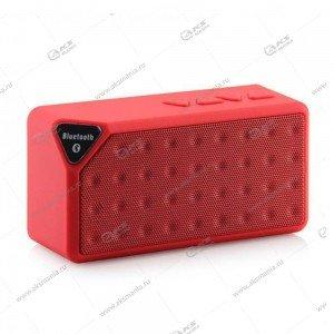 Колонка портативная  X3 BT FM TF USB  красный