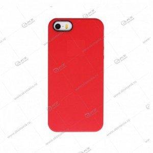 Silicone Case (Soft Touch) для iPhone 5/5S/5SE красный