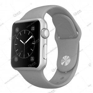 Ремешок силиконовый для Apple Watch 42mm/ 44mm серый