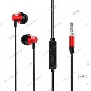 Наушники Borofone BM35 Farsighted с микрофоном красные