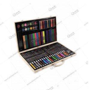 Набор для рисования в деревянном чемоданчике 220 предметов