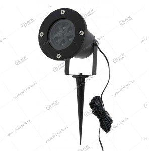 Лазерный проектор Jin-824-4 снежинки уличный