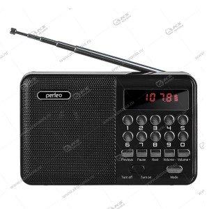 Колонка портативная Perfeo PALM (i90BL) FM USB TF черный