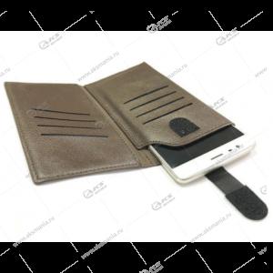 Чехол кошелек Brauffen для iPhone 4 коричневый