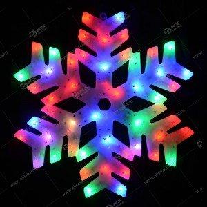 """3D-фигура на стену """"Снежинка"""" большая разноцвет."""