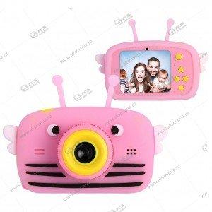 Детский фотоаппарат Zoo Kids Camera пчелка розовый