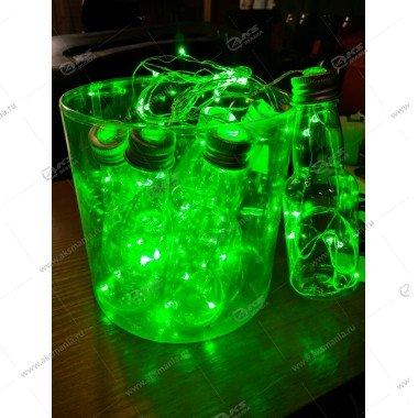 """Гирлянда """"Бутылочки водки"""" 6шт зеленый"""