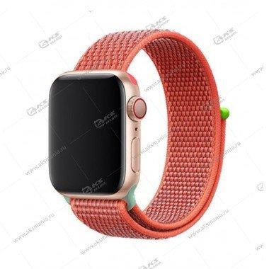 Ремешок нейлоновый для Apple Watch 38mm/ 40mm ярко-оранжевый