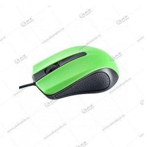 Мышь проводная Perfeo Rainbow оптическая, 3 кн, USB, 1,8м, (PF-353-OP) черно-зеленый